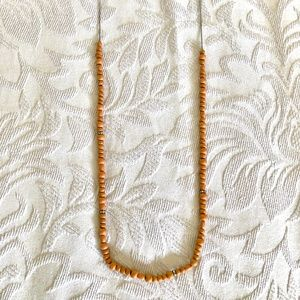 J Crew coral beaded necklace with sparkles